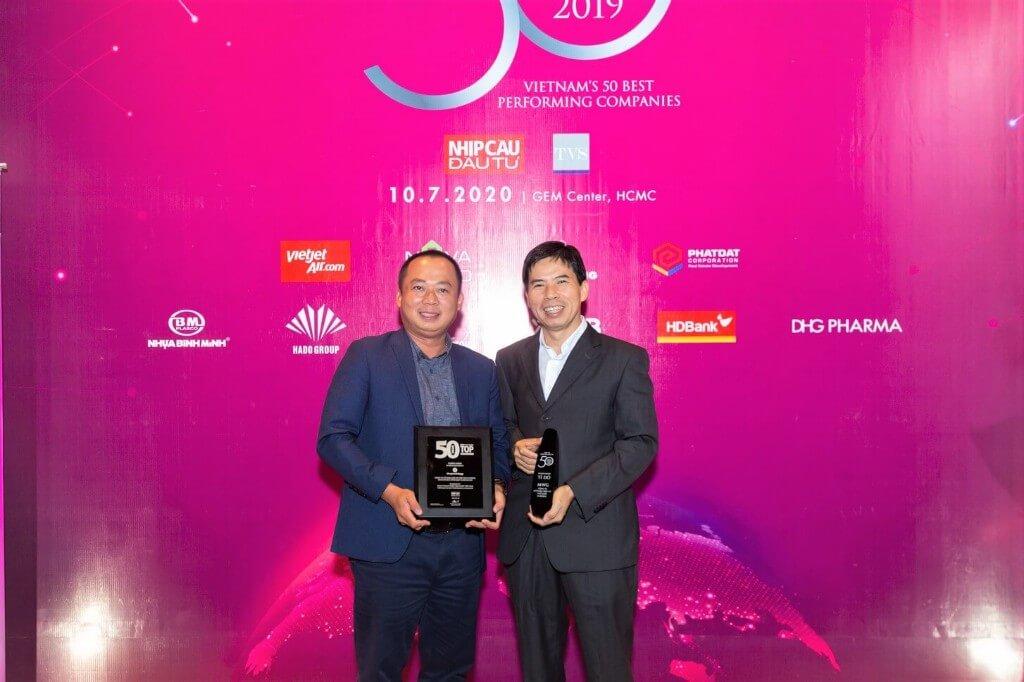 Là quán quân trong Top 50 Công ty kinh doanh hiệu quả nhất Việt Nam 2019